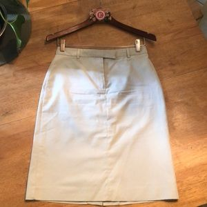 Brooks Brothers Khaki Skirt